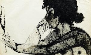 Artwork by Joyce Wieland, Woman with Mirror