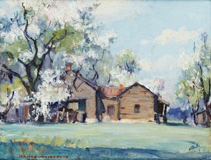 Artwork by Manly Edward MacDonald, Springtime on a Quinte Farm
