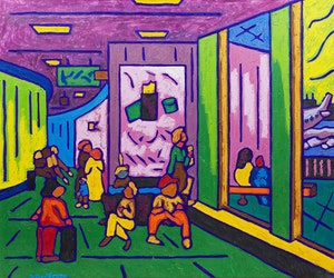 Artwork by John Godfrey, Airport Activities
