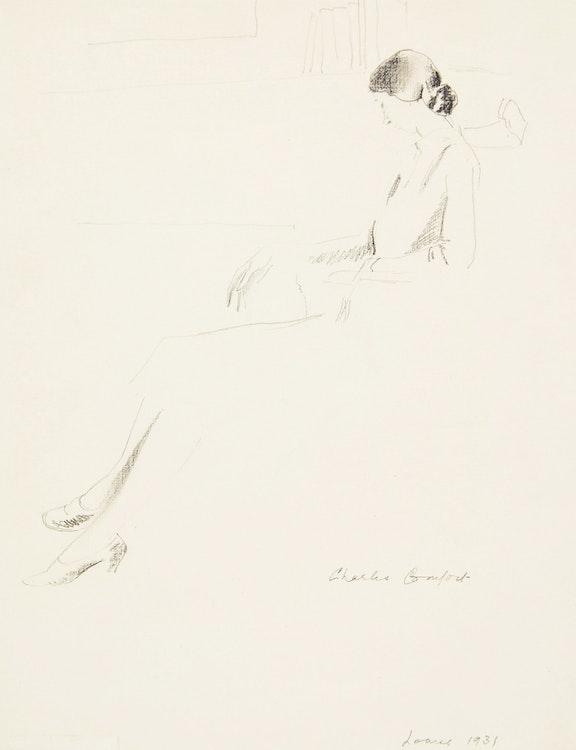 Artwork by Charles Fraser Comfort,  Louise Reading