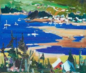 Artwork by Bruno Côté, Rivière St. Jean