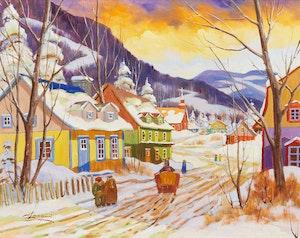 Artwork by Claude Langevin, Conversation avec la voisine