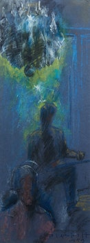 Artwork by Joseph Francis Plaskett, Under the Chandelier (Self Portrait)