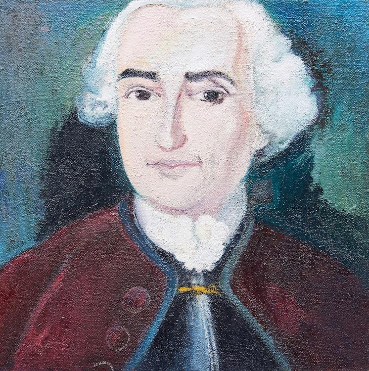 Artwork by Joyce Wieland,  Portrait of Mozart
