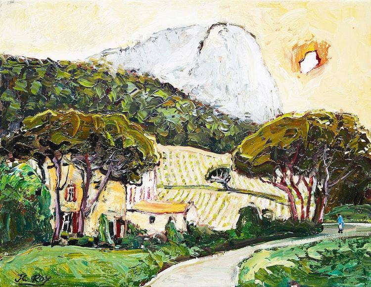 Artwork by Jean-Claude Roy,  Domaine de Cassan