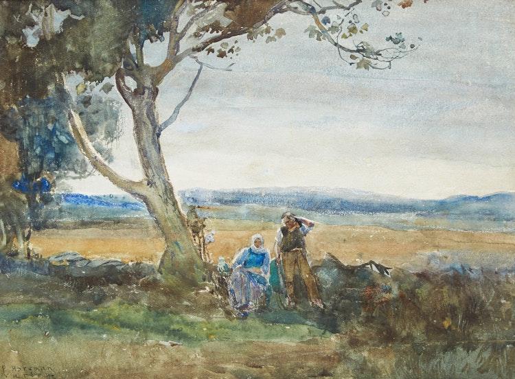 Artwork by Frederick Horsman Varley,  Couple Resting