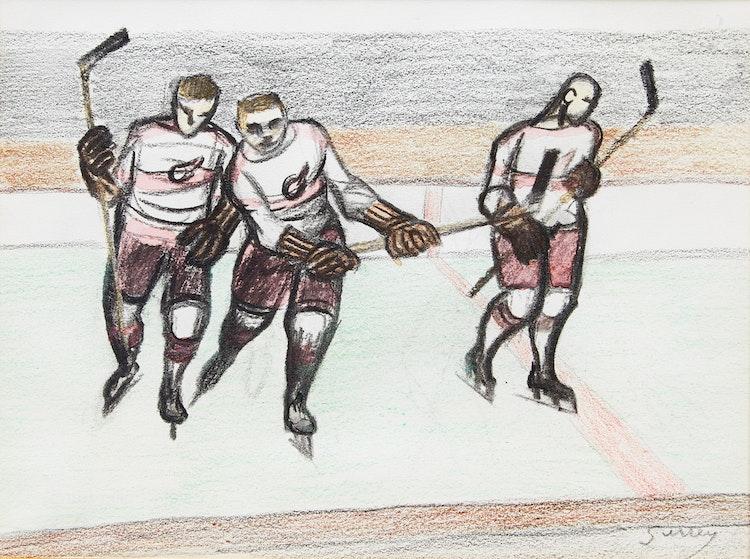 Artwork by Philip Henry Howard Surrey,  Hockey