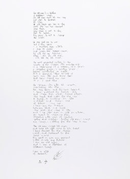Artwork by Michael Robinson, Untitled Poem (An Old Man is a Lifetime of Children's Songs)