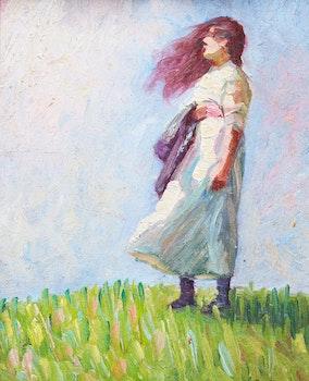 Artwork by Peter Clapham Sheppard, Summer Breeze