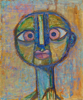 Artwork by Gerald Milne Moses, Two Abstract Portraits