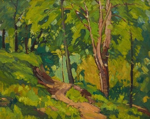 Artwork by George Henry Griffin, Forest Interior