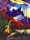 Thumbnail of Artwork by Jean Fosbrooke,  Mountain Landscape