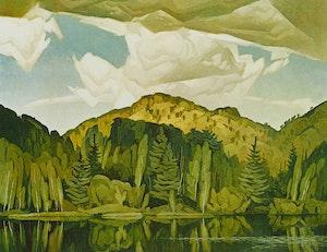 Artwork by Alfred Joseph Casson, Bedard Pond