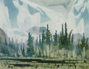 Artwork by Alfred Joseph Casson, Morning Mist