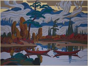 Artwork by James Edward Hervey MacDonald, Mist Fantasy
