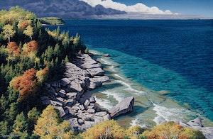 Artwork by E. Robert Ross, Distant Thunderstorm (Bruce Peninsula)