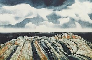 Artwork by Edward John Bartram, Rockscape #9