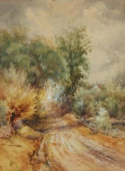 Artwork by Frederick Henry Brigden, Cummer Avenue Hill at Carlyle