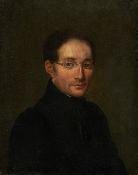 Artwork by  19th Century French School, Portrait of a Bespectacled Gentleman