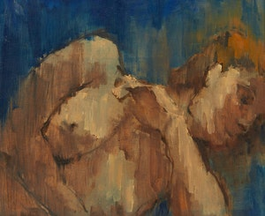 Artwork by Nelson C. Smith, Nude on Blue