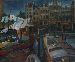 Artwork by Alexander C Gillespie, European Canal Scene