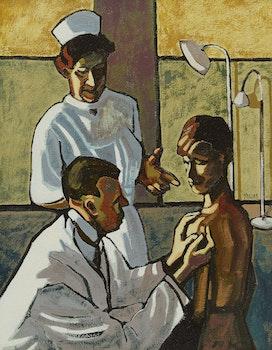 Artwork by Prescotte M.M. Jones, At the Doctors