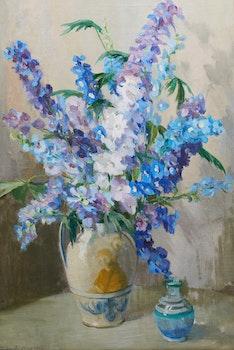 Artwork by Clara Sophia Hagarty, Delphiniums