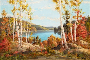 Artwork by Otto Planding, By the Lake