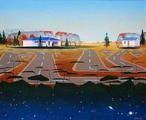 Artwork by John Revill, Beyond the Houses