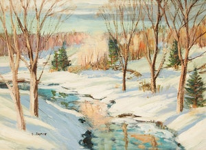 Artwork by Sidney Berne, Two Works: Mount Laurier, P.Q.; On the Shorelines of New Brunswick