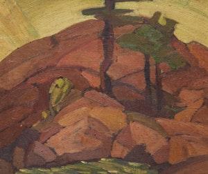 Artwork by Gordon McKinley Webber, Rocks and Trees