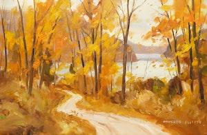 Artwork by Douglas Ferguson Elliott, Autumn Near Minden, Ont.