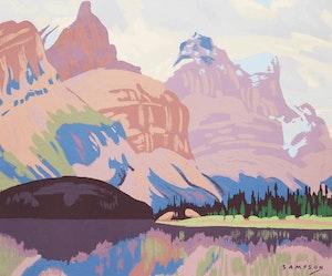 Artwork by Joseph Ernest Sampson, Mountain Range