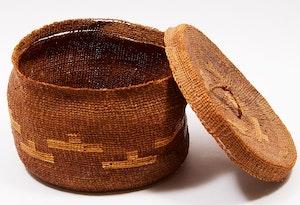 Artwork by  Unknown Haida Artist, Haida basket with Lid