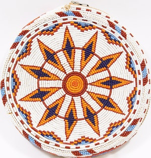 Artwork by  Unknown Plains Artist, Beaded Tobacco Pouch with Zipper