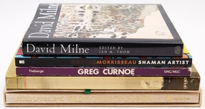 Artwork by  Books and Reference, Five Canadian Artist Books (Including Milne, Morrisseau, Curnoe, Lemieux, Bobak)