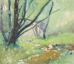 Artwork by Charles Fraser Comfort, Belt Line Creek