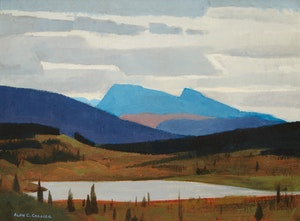 Artwork by Alan Caswell Collier, Gnat Pass, On the Arctic Watershed, South of Dease Lake, B.C.