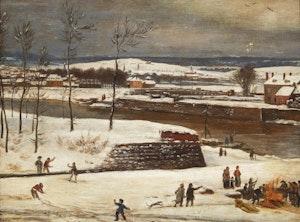 Artwork by  Unknown 19th Century Artist, Winter Play (Quebec)