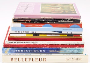 Artwork by  Books and Reference, Fifteen Canadian Art Reference Books (Including Nakamura, Tousignant, Gaucher, Molinari, Juneau, Martin, among others)
