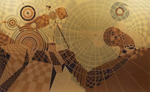 Artwork by René Derouin, Rou-Bloc (B)