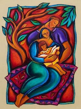 Artwork by Maria Helena De Sousa Justino Vaz, Family