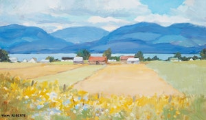 Artwork by Thomas Keith Roberts, Farm Field and North Shore
