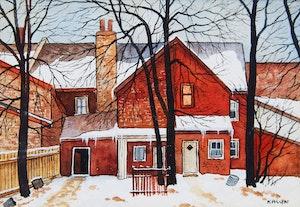 Artwork by John Kasyn, Back of Baldwin Street