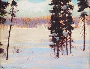 Artwork by Frank Hans Johnston, Screen of Spruce