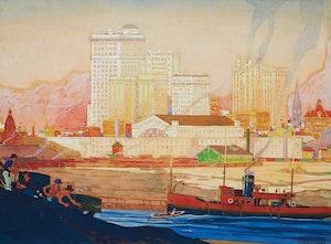 Artwork by Stanley Francis Turner, Toronto Harbour