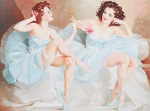 Artwork by Mária Szantho, Dancers