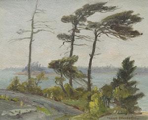 Artwork by Frank Shirley Panabaker, Shoreline Landscape