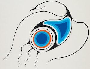 Artwork by Clemence Wescoupe, Bird Spirit