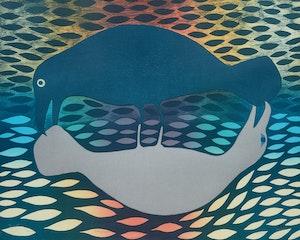 Artwork by Kenojuak Ashevak, Primal Exchange (2001)